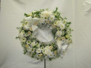 Delicate Moments funeral wreath in Kitchener, ON | CAMERONS FLOWER SHOP