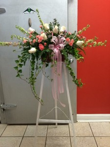 DELICATE PINK SPRAY Funeral Flowers