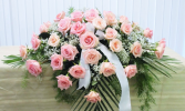 DELICATE PINKS CASKET SPRAY