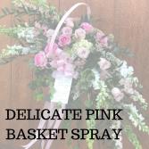 Delicate Pinks Standing Basket Spray