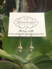 Delicate Sterling Silver Earrings  Gift
