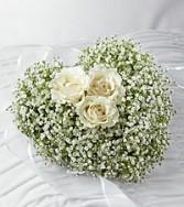 Delicate White Casket Heart