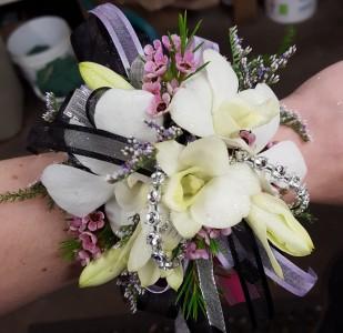 Delicate White Orchid Wrist Corsage