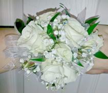 Delicate White rose wrist corsage Corsage