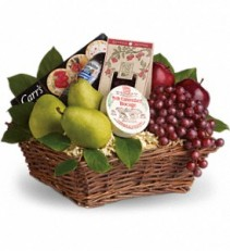 Delicious Delight Basket          T107-2 Fruit and Gourmet