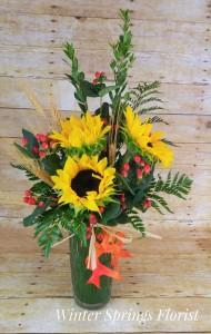 Delight - Fall Vased Arrangement