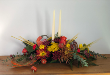 Delightful Fall Centerpiece  Arrangement