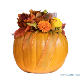 Delightful Pumpkin Silk Floral Arrangement