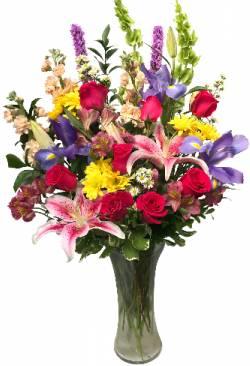 Delightful spring garden vase arrangement in seguin tx dietz delightful spring garden vase arrangement mightylinksfo