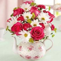Delightful Teapot of Blooms Arrangement