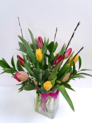 Delightful Tulips  Fresh Arrangement  in Northfield, MN | JUDY'S FLORAL DESIGN STUDIO