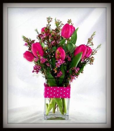Delightful Tulips Vase Arrangement