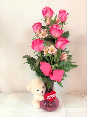 Valentines day flowers crestview fl the flower basket florist delightfully pink valentines day in crestview fl the flower basket florist mightylinksfo