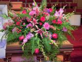 Della's Garden Casket Flowers