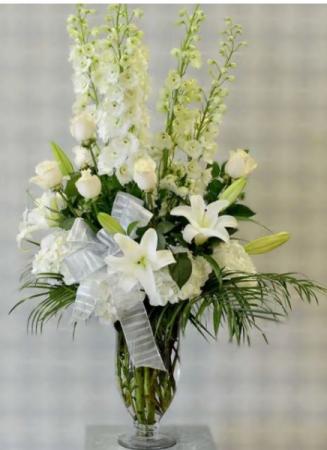 Delphinium Tall Vase Arrangement
