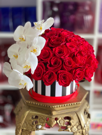 Deluxe Blooming Rose Box  Hat Box