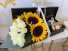 Deluxe  Bouquet White and Yellow Deluxe Bouquet in Long Box