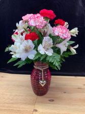 Deluxe Dozen Carnations Vase