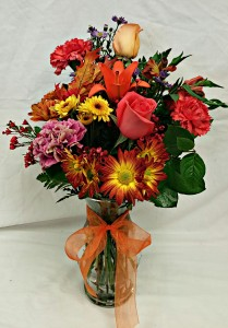 Deluxe Floral Vase w/ Lilies