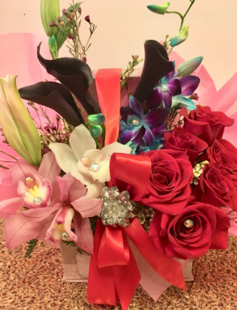 Deluxe French Box You Are My Valentine Bouquet Valentine S Day