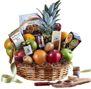 Deluxe Fruit & Gourmet Basket  in Croton On Hudson, NY | Cooke's Little Shoppe Of Flowers