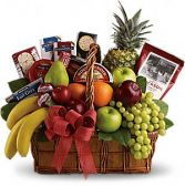 "Deluxe Fruit & Gourmet Gift Basket ""Our Elite Gourmet Gift Basket"""