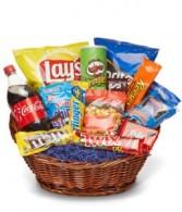 Deluxe Junk Food Basket Gift Basket