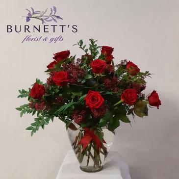Deluxe Roses Vase Arrangement