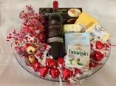 Deluxe Valentine's Basket Gift Basket