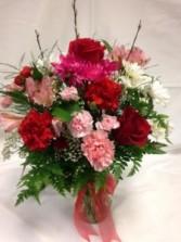 Deluxe Valentine's Medley Bouquet Vase Arrangement