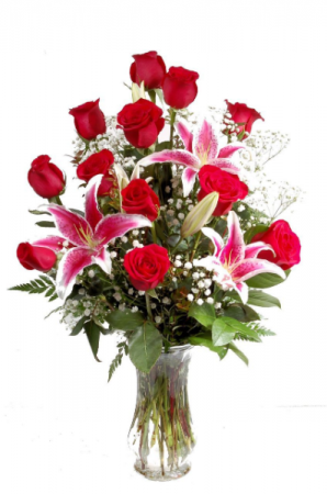 Deluxe Valentines Special Mixed Vase Valentines Day Special