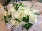 Deluxe White Rose Corsage Wrist Corsage