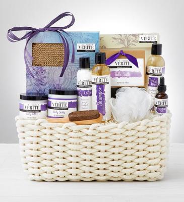 Denarii Lavender Spa Gift Basket gifts