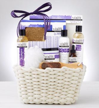 Denaril Lavender Spa Basket Gift Basket