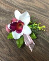 Dendrobium orchid Artificial Boutonnière