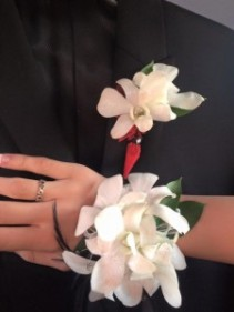 Dendrobium orchid corsage and bout corsage