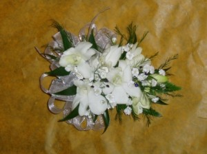 Dendrobium Orchid Corsage Prom Corsage in Lincroft, NJ | Lincroft FAB Florist & Gifts/Silver Tulip Florist
