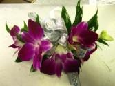 Dendrobium orchid corsage