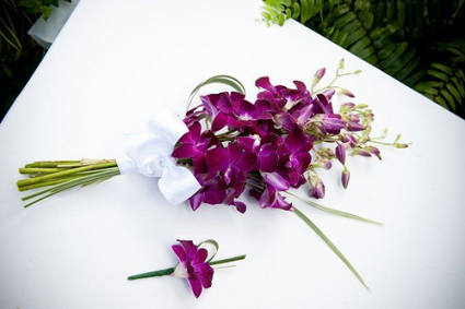 Dendrobium Orchid Hand Bouquet and Boutinere