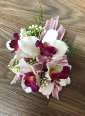 Dendrobium orchid Artificial Wrist coursage