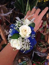 Design With Your Color Ribbon Prom Corsage in Colorado Springs, CO | ENCHANTED FLORIST II