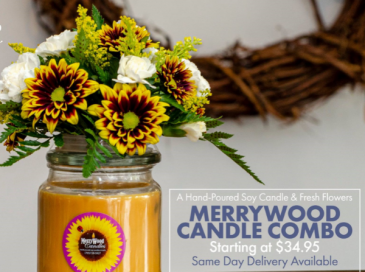 Designer Choice Candle Combo Fresh Flowers & Candle