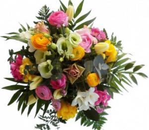 Designer Choice Flower Bouquet Mixed flowers appropriate for the season. Cello bouquet. in Brampton, ON | BRAMPTON FLOWER SHOP INC.
