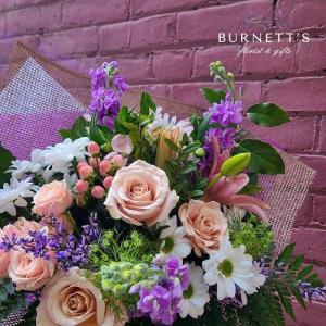 Designer Choice Grand Handtie (No Vase) Hand-tied Bouquet  in Kelowna, BC | Burnett's Florist