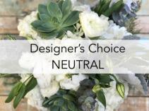 Designer choice - neutral colors Vase- bouquet