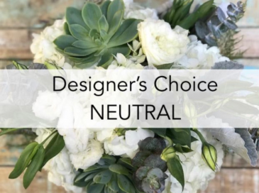 Designer choice - neutral colors Vase- bouquet
