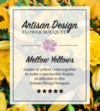 Designer Choice Shades of Yellow flowers