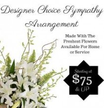 Designer Choice Sympathy Arrangements