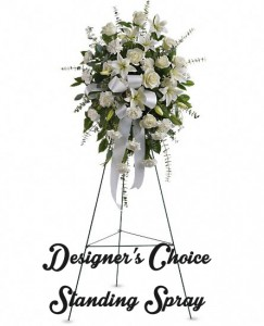 Designer Choice Sympathy Standing Sprays  in Merced, CA | TIOGA FLORIST INC.