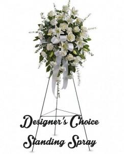 Designer Choice Sympathy Standing Sprays  in Merced, CA | TIOGA FLORIST INC.